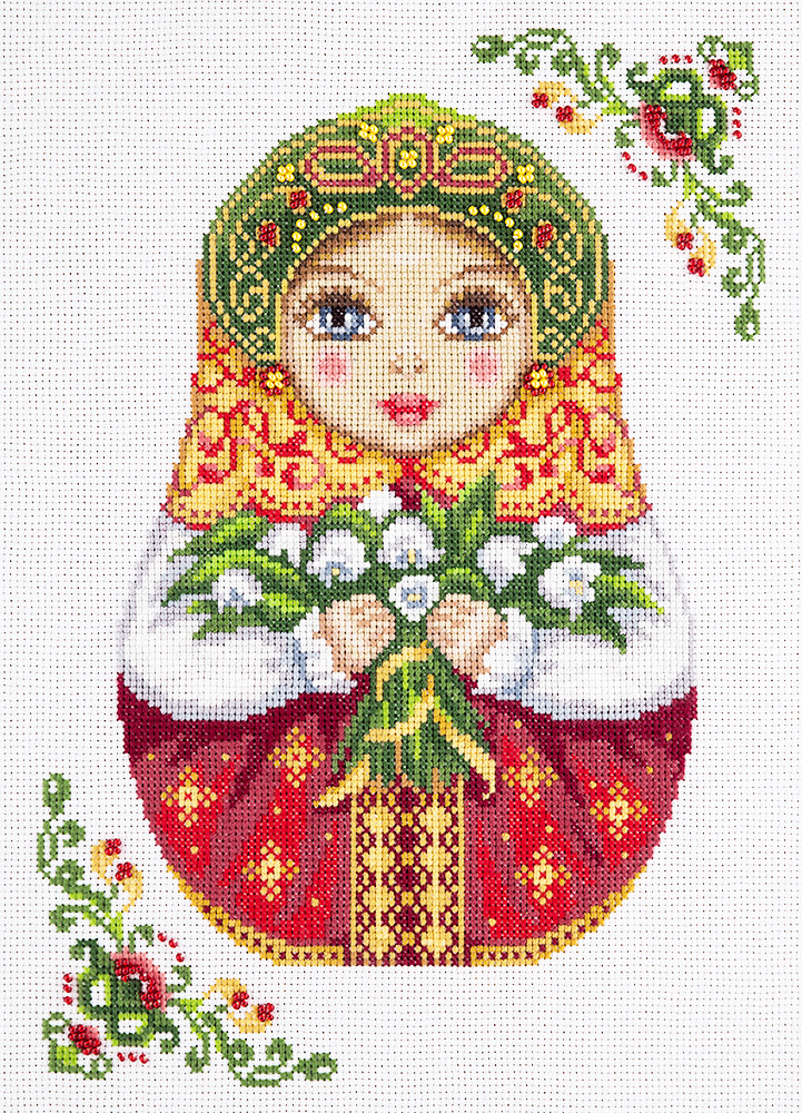 Embroidery kits PANNA NM-1839 Russian Doll. Spring
