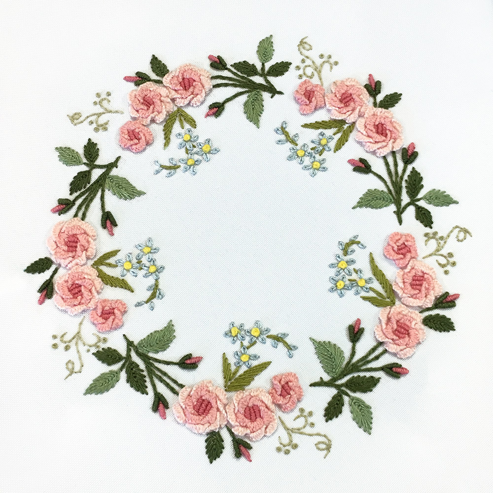Embroidery kits PANNA Living Picture JK-2140 Rose Wreath