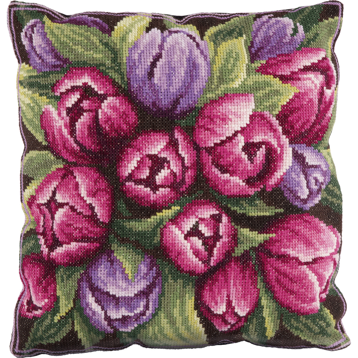 Embroidery kits PANNA PD-1548 Tulips (Cushion Front)