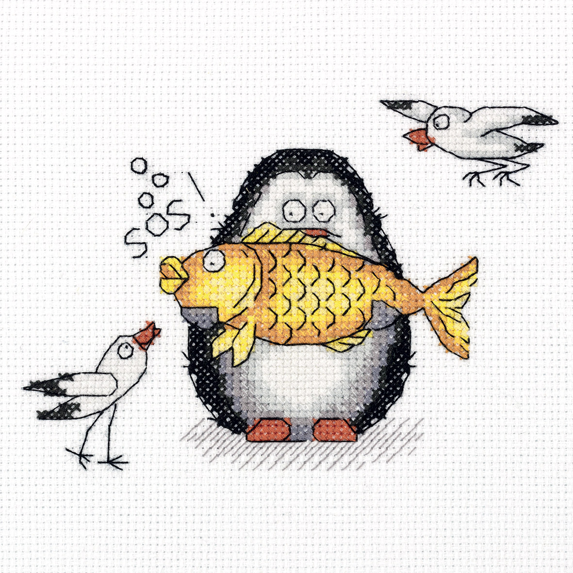 Embroidery kits PANNA 8-284 Antarctic Fisherman