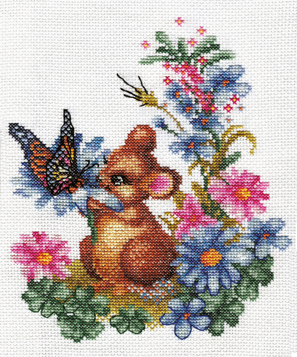 Embroidery kits PANNA D-0274 Curious Mouse