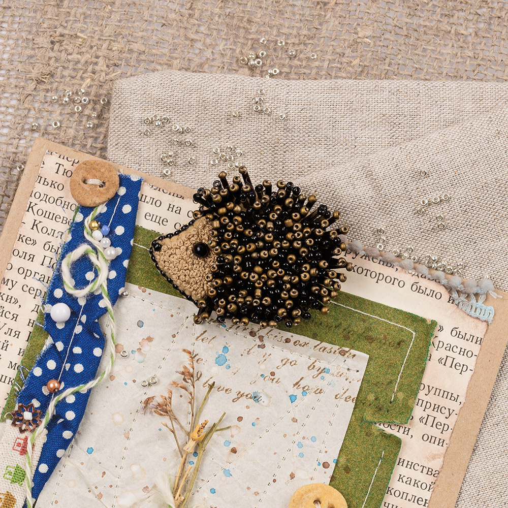 Embroidery kits PANNA 10-008 Brooch. Hedgehog