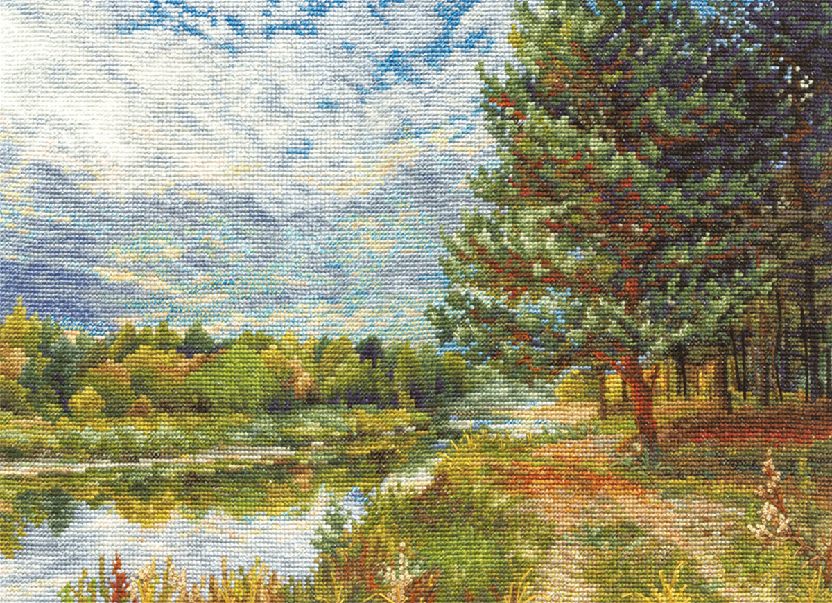 Embroidery kits PANNA PS-0896 Pine on the River Bank