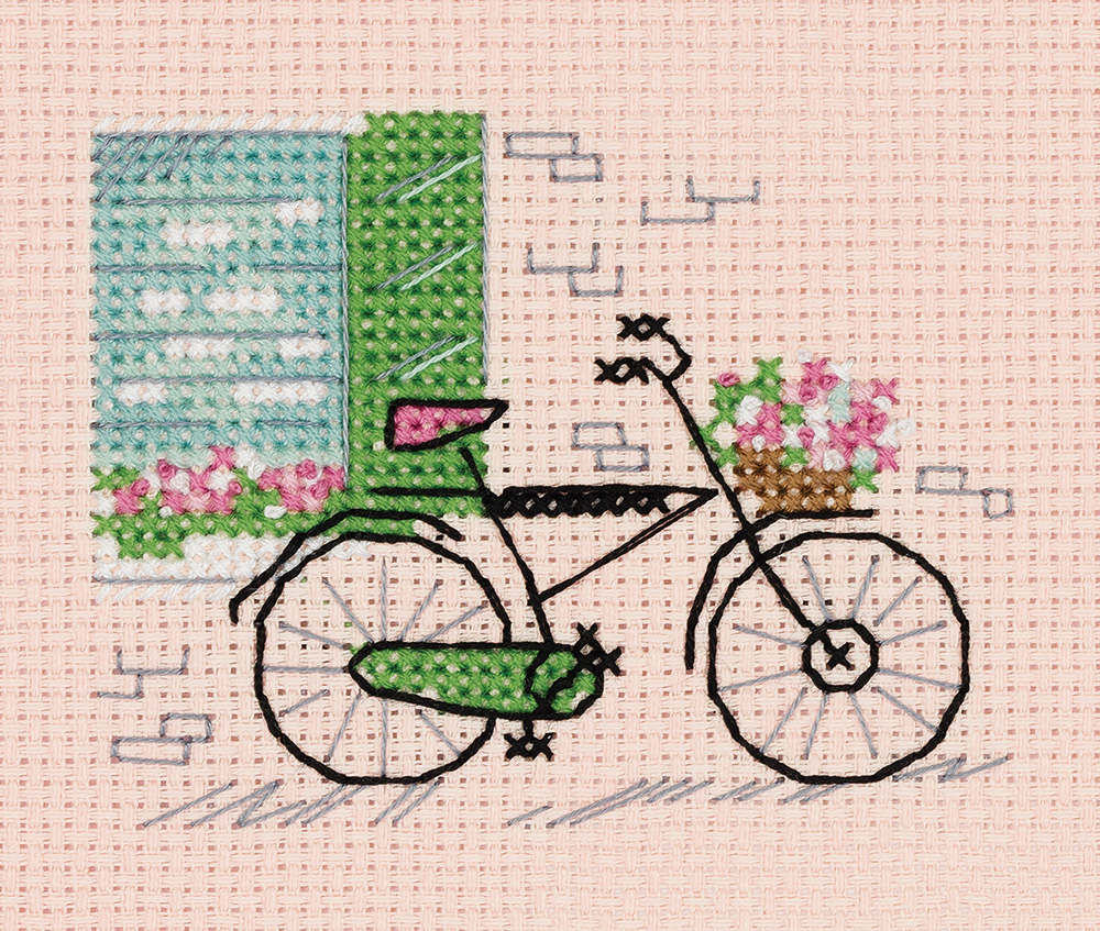 Embroidery kits PANNA 8-408  Sketches. On Bicycle