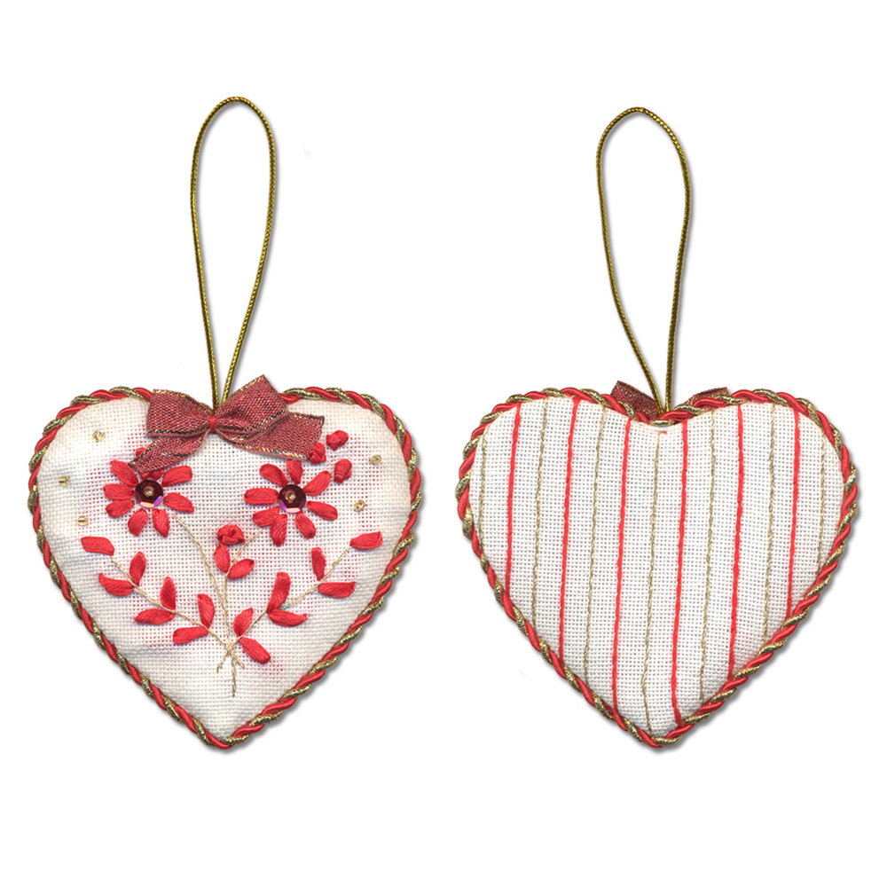 Embroidery kits PANNA IG-1274 Christmas Decoration. Heart