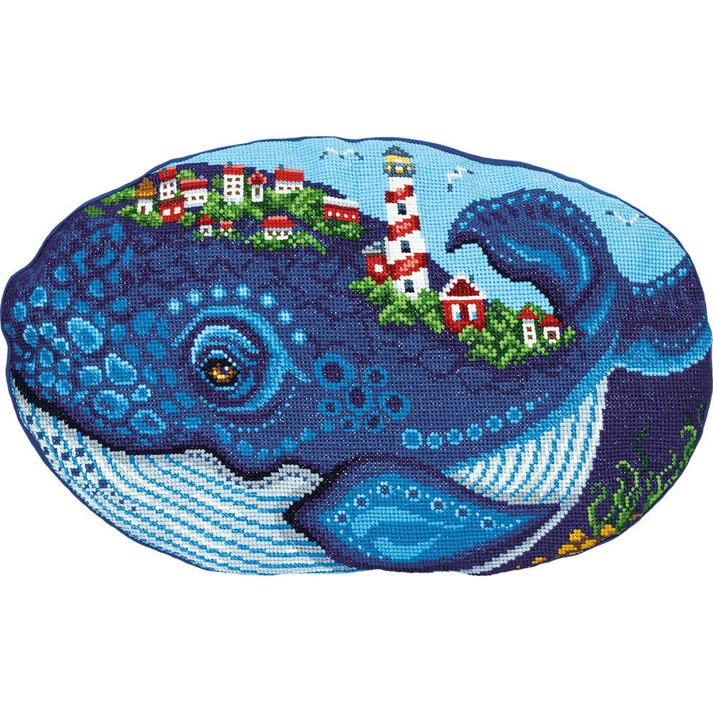 Embroidery kits PANNA PD-7177 Whale (Cushion Front)