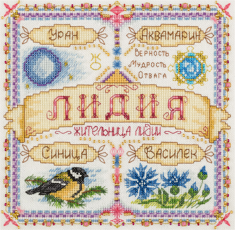 Cross stitch embroidery kits PANNA SO-1922 Name Sample