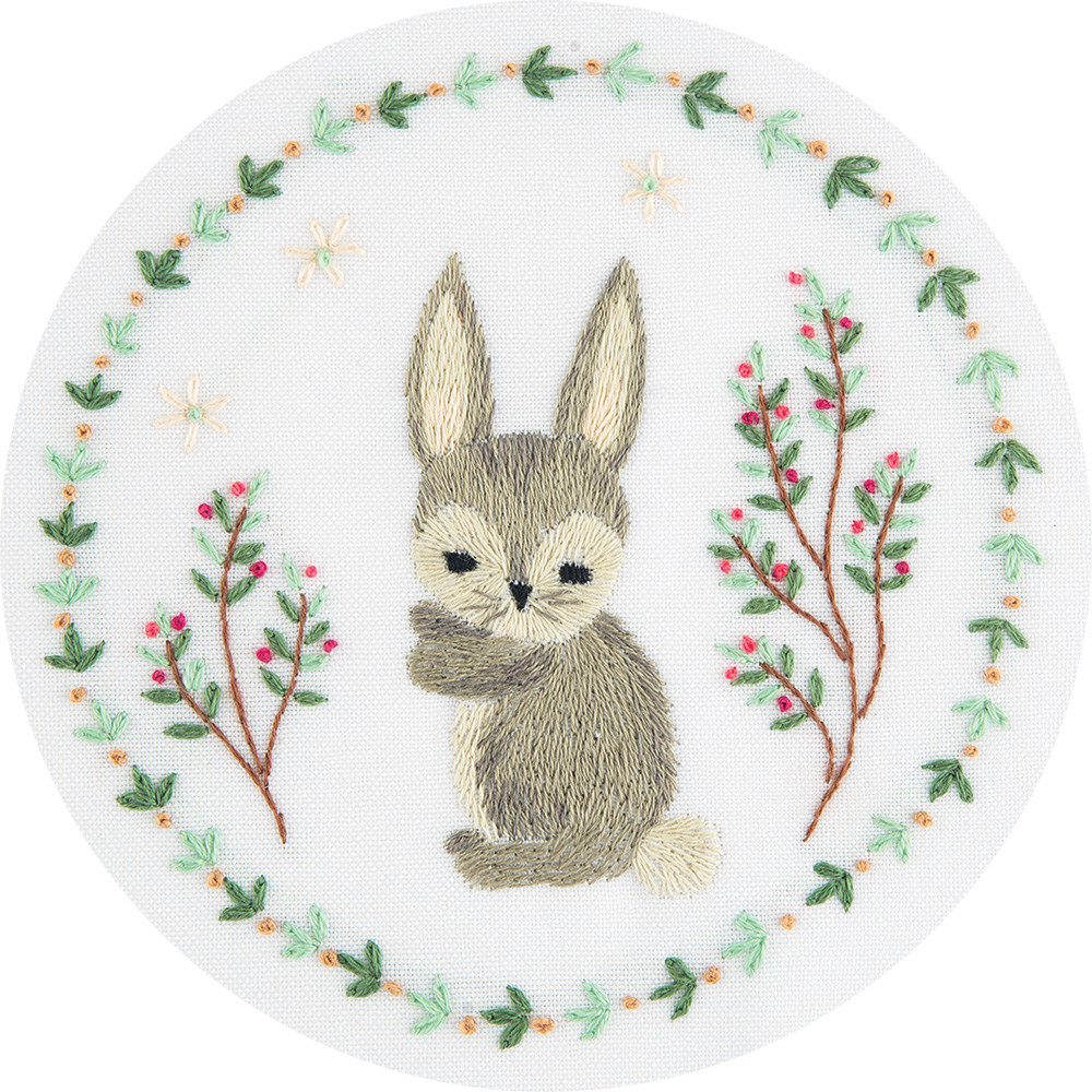 Embroidery kits PANNA Living Picture JK-2128 Grey Bunny